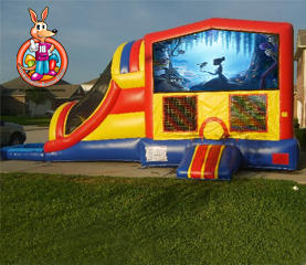 Princess & the Frog Module 5 in 1 Waterslide Bouncehouse Combo